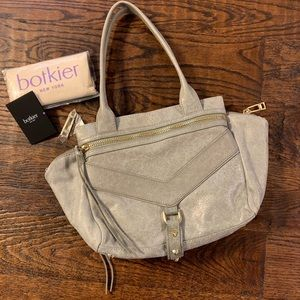 Botkier Trigger Small Leather studded zip Satchel